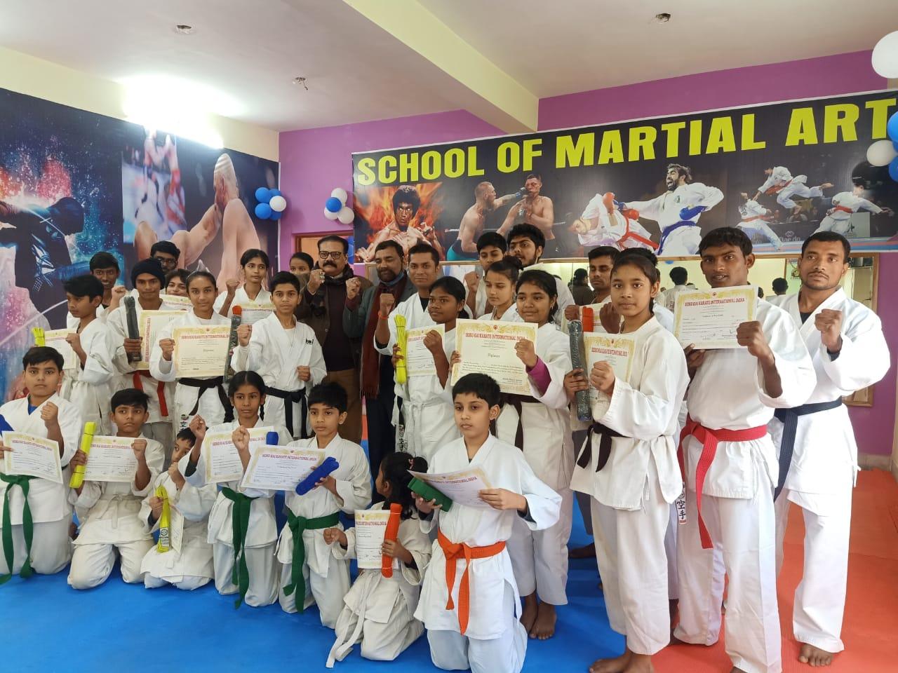 स्कूल ऑफ मार्शल आर्ट का चौथा बेल्ट ग्रेडिंग टेस्ट संपन्न