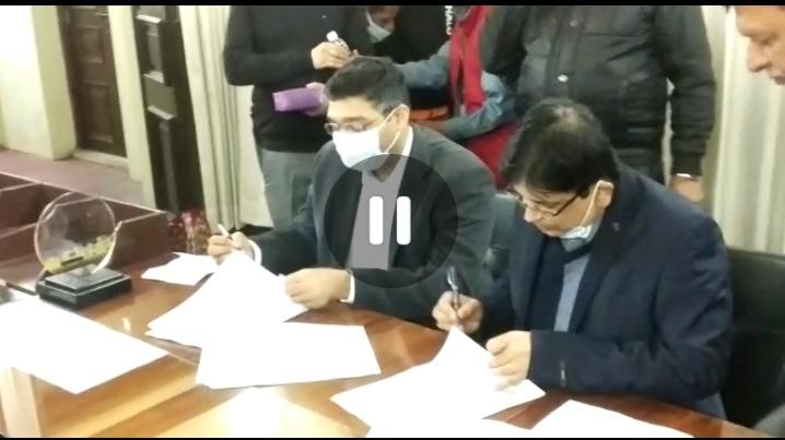 बिहार राज्य पथ परिवहन निगम एवं 'चलो' सेवा का MOU का साइन किया गया