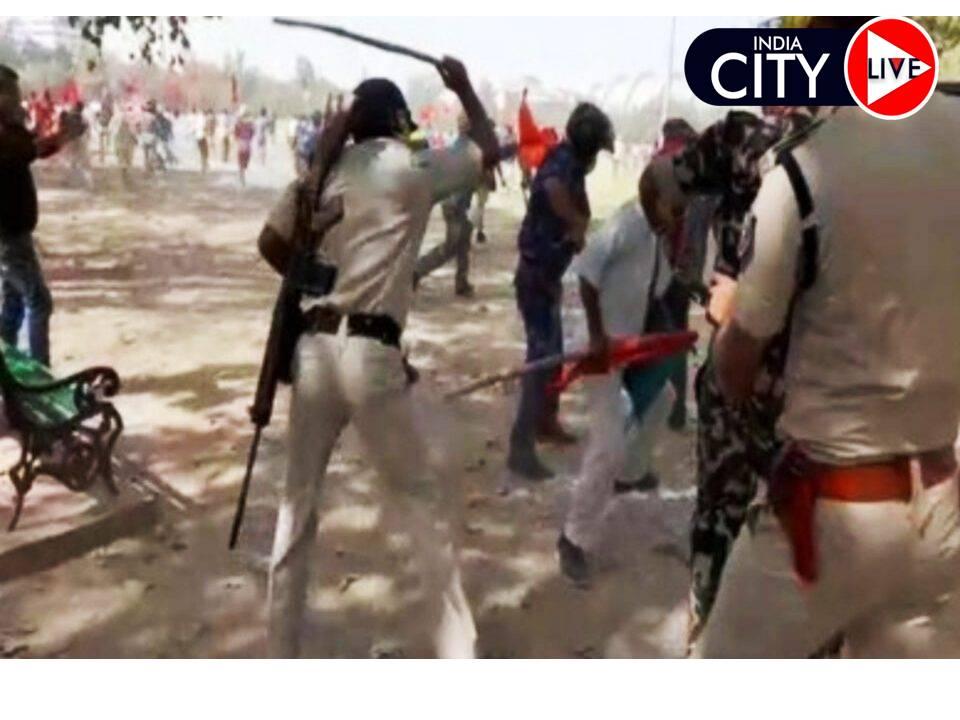 पटना में वाम दल के कार्यकर्ताओं पर लाठीचार्ज,विधानसभा घेराव करने के लिए पहुंचे थे कार्यकर्ता